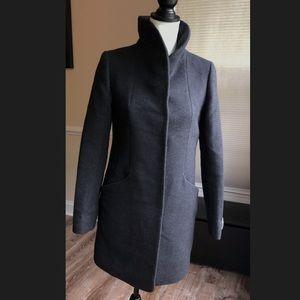 Wilfred Cocoon Wool coat dark charcoal.